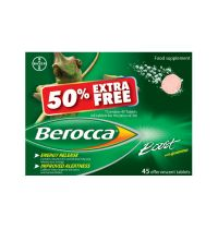 Berocca Effervescent Tabs Boost 30's +50% Extra Free