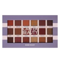 Carter Beauty Warm Velvet 18-Shade Eyeshadow Palette