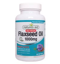Natures Aid Flaxseed Oil 1000Mg Cold Pressed
