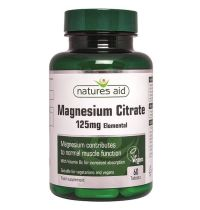 Natures Aid Magnesium 125MG Citrate With Vitamin B6