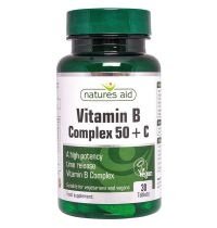 Natures Aid Vitamin B Complex + C High Potency