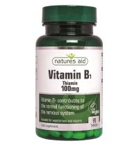 Natures Aid Vitamin B1 100MG Thiamine