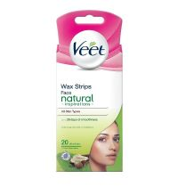 Veet Face Precision Wax Strips - Natural Inspirations (20 Pack)