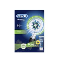 Oral B Pro 650 Black Powerbrush & Toothpaste