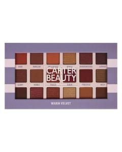 Carter Beauty Warm Velvet 18-Shade Eyeshadow Palette